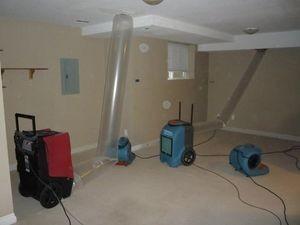 Water Damage Restoraiton Vacuuming Attic