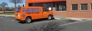 Mold Removal Van Parked At Job