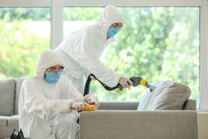 crime scene cleanup technicians in home